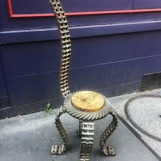 Bob Campbell - chaise en acier de l'atelier Stig