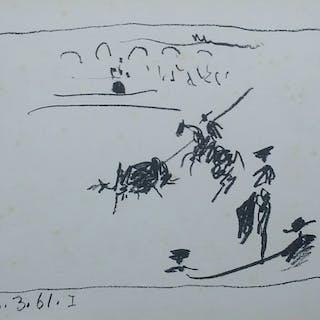 Pablo Picasso, La pique, 1961, Lithographie originale