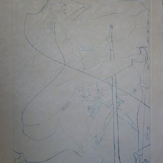 Salvador DALI : Femme aux béquilles - Gravure originale signée