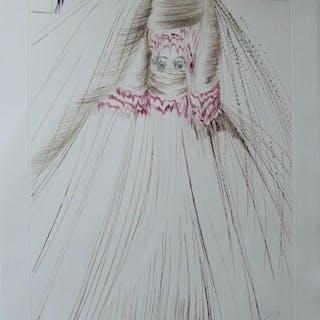 Salvador DALI : La reine avait bliaut de soie - Gravure originale Signée