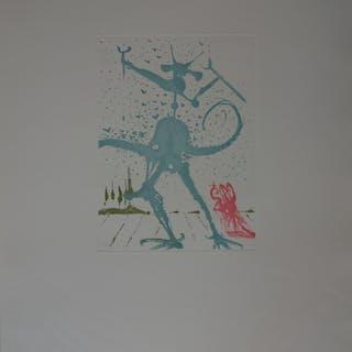Salvador DALI : Huit Péchés Capitaux, le Péché Dalinien - Gravure original 1968