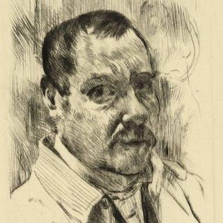 Lovis CORINTH Self-Portrait  1914 gravure signéeSelf-Portrait (Selbstbildnis)