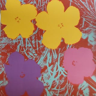 Andy WARHOL (d'après) Poppy Flowers Sérigraphie Sunday B Morning.