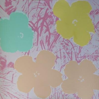 Andy WARHOL (d'après) - Poppy Flowers Rose, Sérigraphie