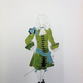 Suzanne LALIQUE (1892 -1989) - Costume masculin de la cour de Louis