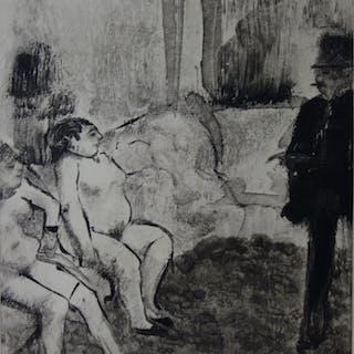 Edgar DEGAS : Un choix délicat - Gravure originale, 1935