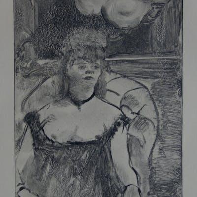 Edgar DEGAS : Une femme plantureuse - Gravure originale, 1935