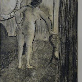 Edgar DEGAS : Après une longue nuit - Gravure originale, 1935