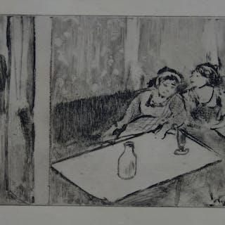 Edgar DEGAS : Champagne avant l'amour - Gravure originale, 1935
