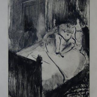 Edgar DEGAS : Femme attendant au lit, 1935 - Gravure originale