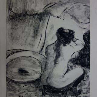 Edgar DEGAS : Coiffure du matin - Gravure originale, 1935