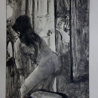 Edgar DEGAS : Derniers préparatifs - Gravure originale, 1935