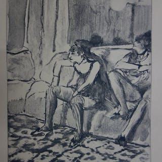 Edgar DEGAS : Les jumelles - Gravure originale, 1935