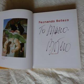 Dédicace de Fernand Botero sur un catalogue  - Editions Swiridoff