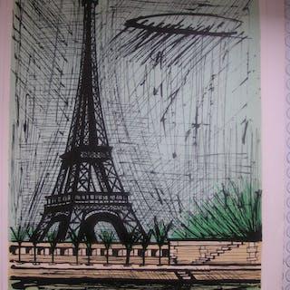 "Bernard Buffet - ""Tour Eiffel"", Lithographie originale signée au crayon"