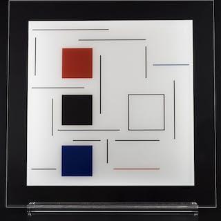 """Geneviève Claisse """"Composition sur Plexiglas"""" 2016"""