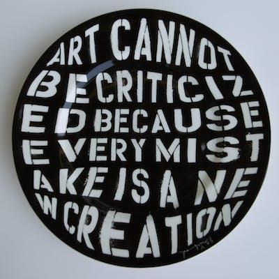 Mr Brainwash - Creation, 2013, Assiette signée et numerotée