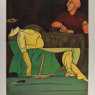 "Valério ADAMI - ""La Mort de Marat"" 1983 Lithographie"