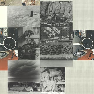 Robert Rauschenberg, Sans titre, 1984 Technique mixte