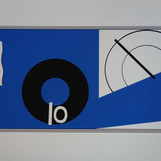 Eileen GRAY : Composition abstraite - Sérigraphie signée