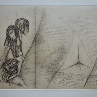 Fred DEUX : La question - Gravure originale Signée au crayon 1/30