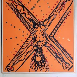 Salvador DALI : Les Apôtres, Saint André - Lithographie originale Signée