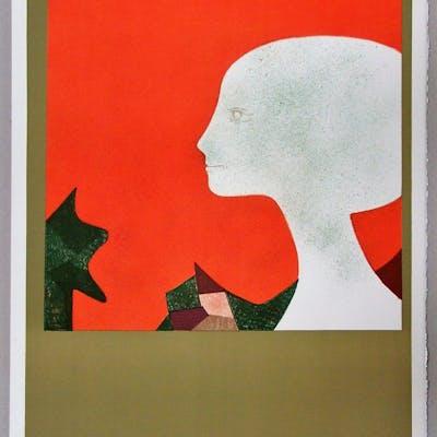 ANDRE MINAUX: Profil, 1973 - Lithographie originale - Signée & numérotée