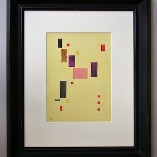WASSILY KANDINSKY ( d'après ) - Lithographie en couleurs - Composition - 1953