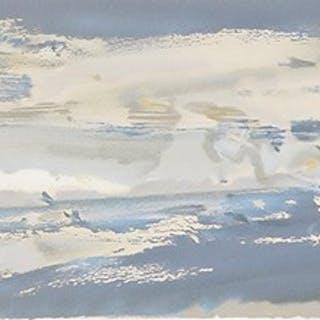 Arpad Szenes, plage du nord (1982)  Lithographie  couleurs signée