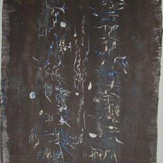 Zao Wou-Ki  lithographie XX  siècle  de 1958 non signée & grandes