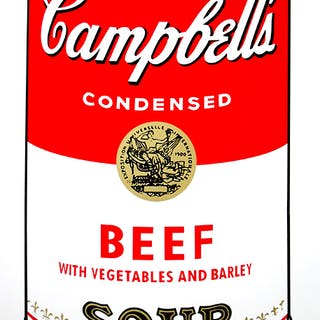 Andy Warhol (after) Sunday B. Morning - Campbell's Soup - Beef Screen