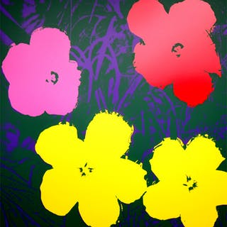 Andy Warhol (after) Sunday B. Morning - Flowers 11.65 Screen print