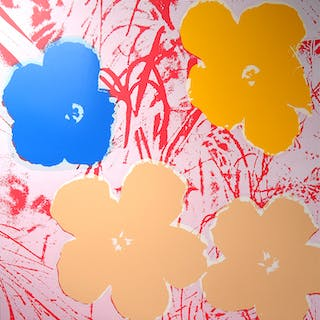 Andy Warhol (after) Sunday B. Morning - Flowers 11.70 Screen print