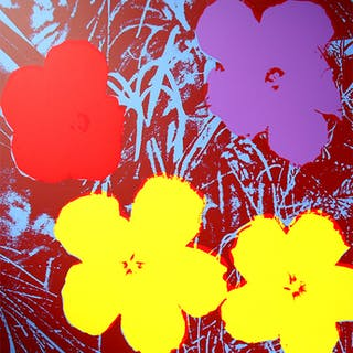 Andy Warhol (after) Sunday B. Morning - Flowers 11.71 Screen print