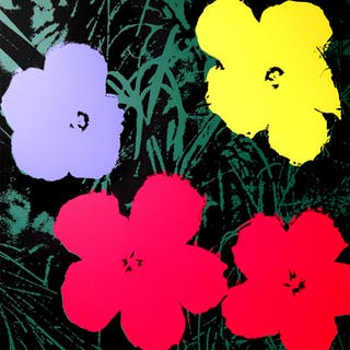 Andy Warhol (after) Sunday B. Morning - Flowers 11.73 Screen print