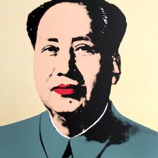 Andy Warhol (after) Sunday B. Morning - Mao Yellow Screen print, COA