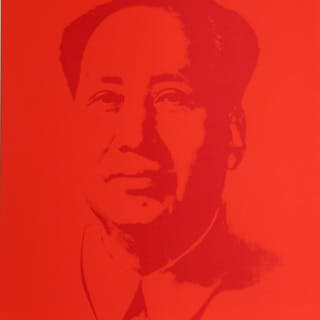 Andy Warhol (after) Sunday B. Morning - Mao Red Screen print, COA