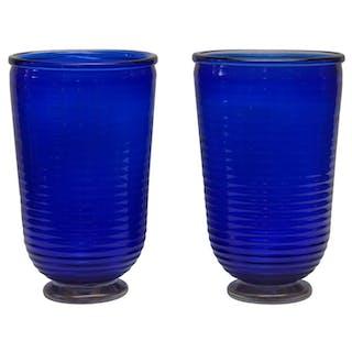 "Paire de vases en verre de Murano signé ""Toso"""