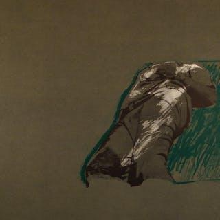 Rafael Canogar - Figura sobre la hierba - Limited edition lithograph