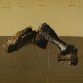 Rafael Canogar - Figura en paisaje - Limited edition lithograph hand-signed