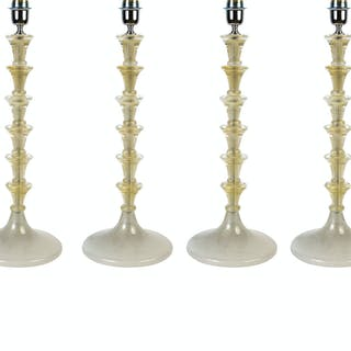 Set de quatre lampes en verre de Murano