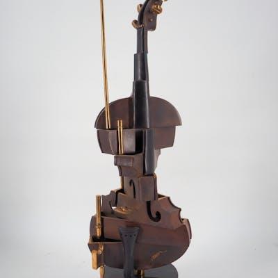 ARMAN - Violon cubiste n°2 - sculpture originale en bronze