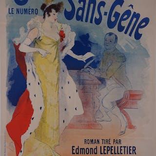 Jules CHERET : Madame sans gêne - Affiche originale Signée 1894