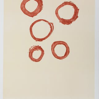 robert motherwell five circles 1972 lithographie ORIGINALE signée