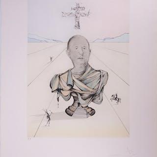 Salvador Dali  : Hommage au Général de Gaulle - Gravure originale signée