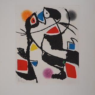 Joan MIRO : Le Marteau sans Maître VII - Gravure originale, 1976