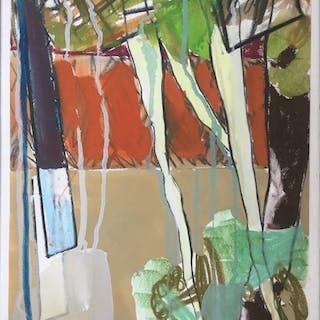 Nicolas GASIOROWSKI né en 1958.Paysage.Technique mixte.SBG.60x40