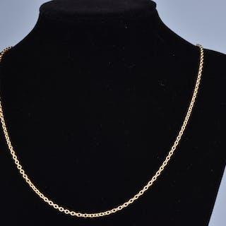 Magnifique collier en or 18 carats (750 millièmes), chaîne maille forçat
