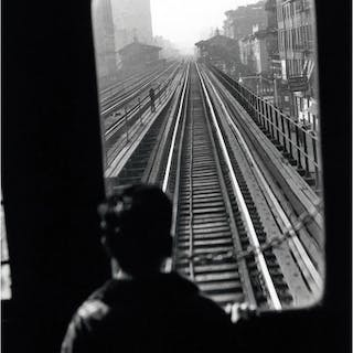 Elliott Erwitt Third Avenue El., New York City, 1954  épreuve signée