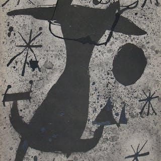 JOAN MIRO ( d'après ) - PERSONNAGE DANS LA NUIT - 1967